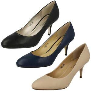 Mujer-Anne-Michelle-Zapatos-de-Salon-Tacon-Medio