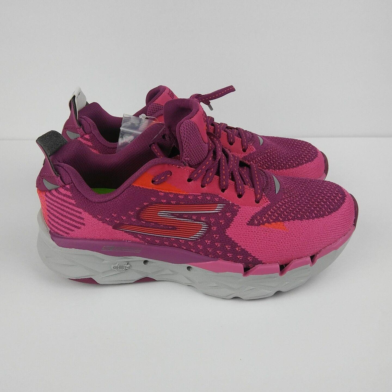 SKECHERS Go Run Ultra Road 2 Running Shoes Purple Pink Gray Women's Size 7