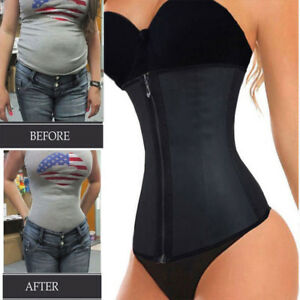 87a6665bb3 Image is loading Fajas-Colombianas-Zip-Latex-Rubber-Waist-Trainer-Weight-