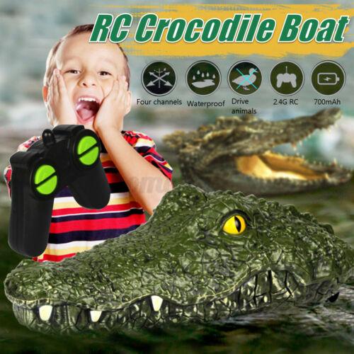 2.4G Rennboot Krokodilkopf RC Wasser Trick Parodie Spielzeug Fernbedienung