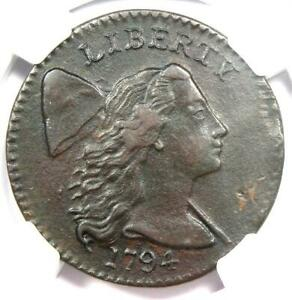 1794 Liberty Cap Large Cent 1C Coin - Certified NGC XF Details (EF) - Rare Coin!
