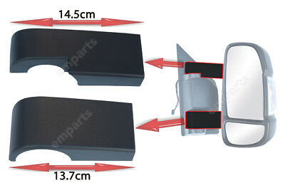 Citroen Relay Door Mirror Casing Cover Back LONG Arms Only Left N//S 2006 2018