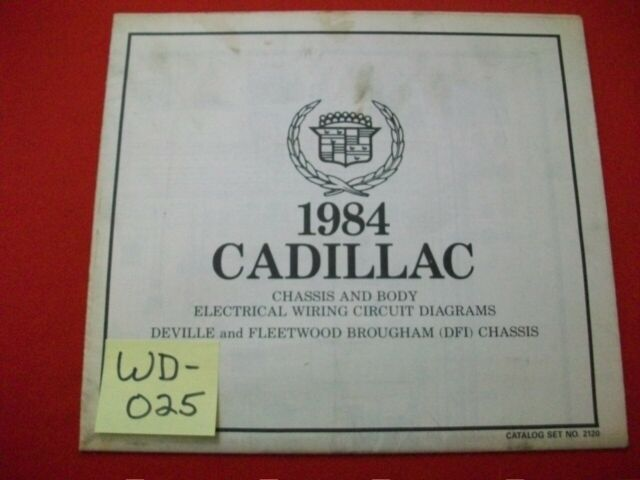 1984 Cadillac Deville  U0026 Fleetwood Brougham  U0026quot  Dfi  Chassis U0026quot  Elect  Wiring Diagram