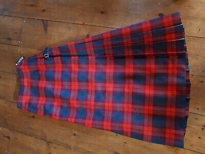 Avere Una Mente Inquisitrice Lunga Tartan Kilt Scozzese Da Kiltmakers Inverness Ltd Hector Russell Con Pin-