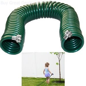 Image is loading Plastair-Springhose-50-Foot-3-8-Inch-Coil-  sc 1 th 225 & Plastair Springhose 50-Foot 3/8-Inch Coil Garden Hose Recoil Water ...