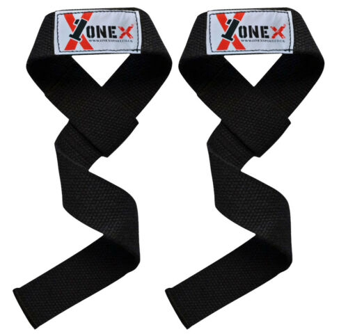 Pure Weight Lifting Bar Straps Deadlift Gym Wraps Fitness Hand Wrist Support