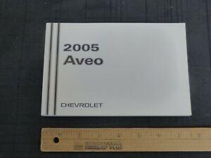 2005-Chevrolet-AVEO-Car-Owners-Manual-New-GM-Original