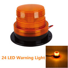 Auto Car Warning Light Amber LED Flashing Warning Strobe Emergency Light 12V 24V