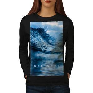 Wellcoda SchöN In Farbe Tops & Shirts New Wave Sea Ocean Nature Women Long Sleeve T-shirt New