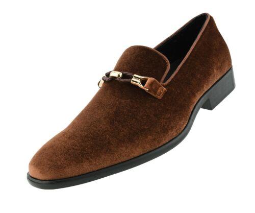 9 Colors Avail. Amali Velvet Tuxedo Shoes Mens Formal Fashion Slip On Loafers