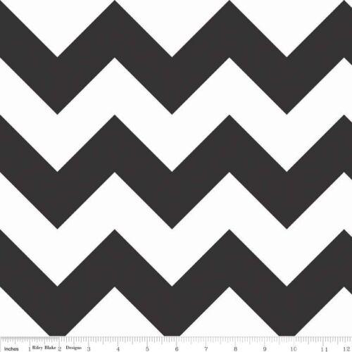 Chevron Black Large Chevron 1//2 yd cotton fabric RBD Designers for Riley Blake