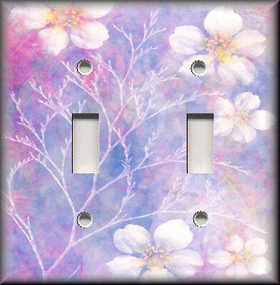 Metal Light Switch Plate Cover - Dream Flowers Lavender Purple Floral Home Decor