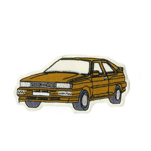 Aufnaeher Patches Applikation Stickemblem 9,1 x 4,5 cm Auto Oldtimer gold 05423
