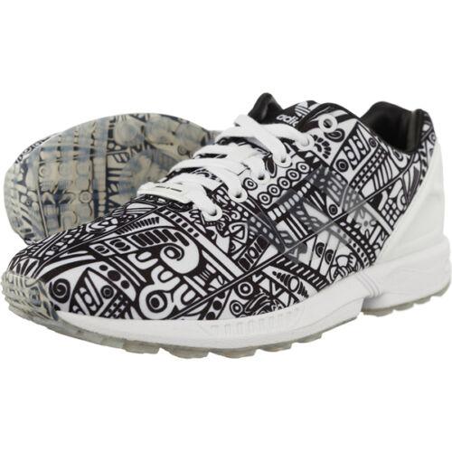 buy online 694ff d8467 Blanc Zx De Chaussures Adidas Baskets noir Flux Formateurs Neuf Sport  0Ufwxvq6