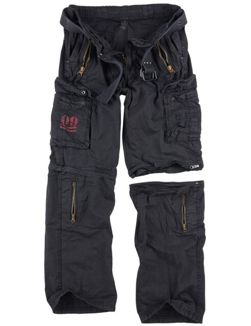 SURPLUS Raw Vintage Royal OUTBACK Trousers Cargo Trousers +ZIP OFF Shorts in one