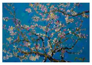 Vincent Van Gogh Iconic Almond Blossom Painting Wall Art Framed