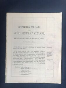 Royal Order of Scotland - Constitution And Laws (1862)