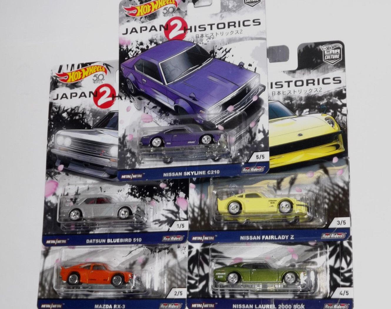 2018 HOT WHEELS CAR CULTURE JAPAN HISTORIES REAL RIDERS 5 CAR SET