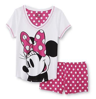 Womens Disney Minnie Mouse Pyjamas Loungewear Set Gift Winter Warm Coral Fleece