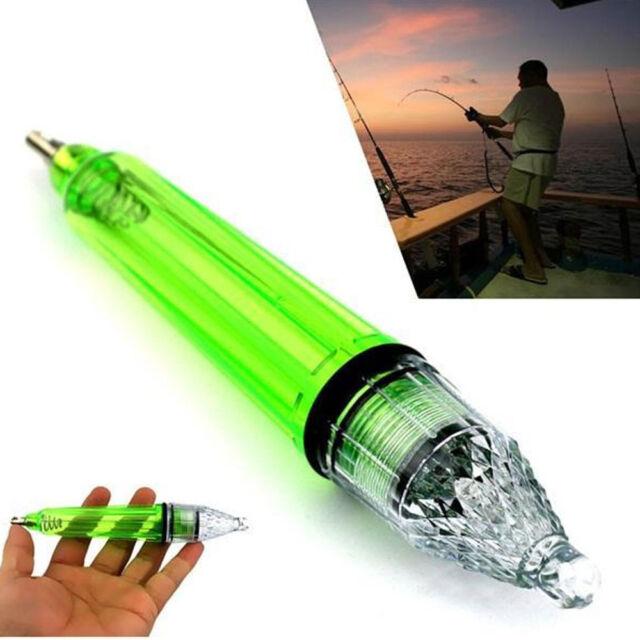 Underwater LED Flashing Light Fishing Attract Lure Fish Lamp 1000m Deep Drop