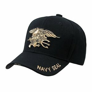 75fb578db9a Details about Black United States USA US Navy Seals Seal Team Baseball Cap  Caps Hat Hats