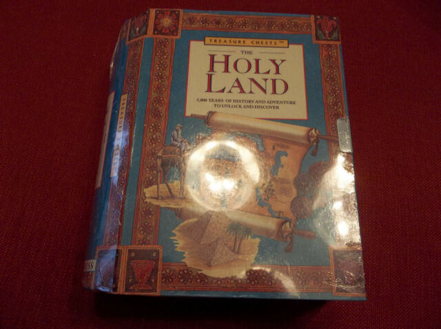 The Holy Land Treasure Chest By Running Press History Kit Stamps Book Models EUC