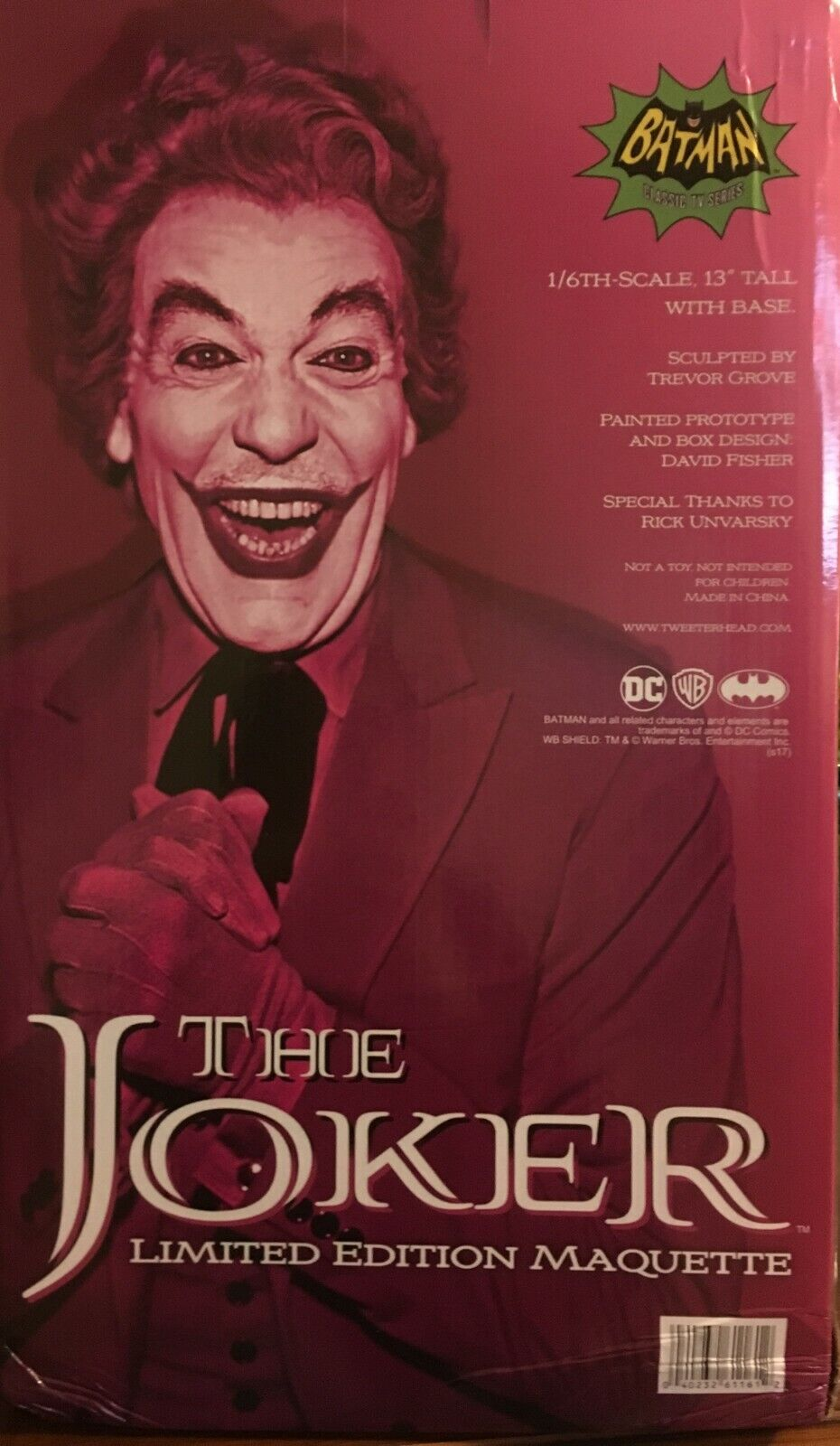 THE JOKER 1966 Maquette Classic Batman TV Show Tweeterhead 902789 NIB Sideshow