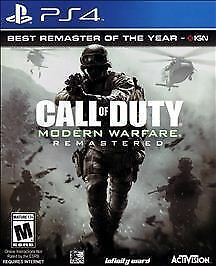 Call Of Duty 4 Modern Warfare Remastered Sony PlayStation 4, 2017 pre-owned  - $29.99