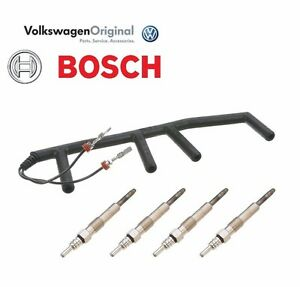 oem vw tdi diesel glow plug wiring harness w 4 bosch glow plugs rh ebay com glow plug wiring harness glow plug wiring harness