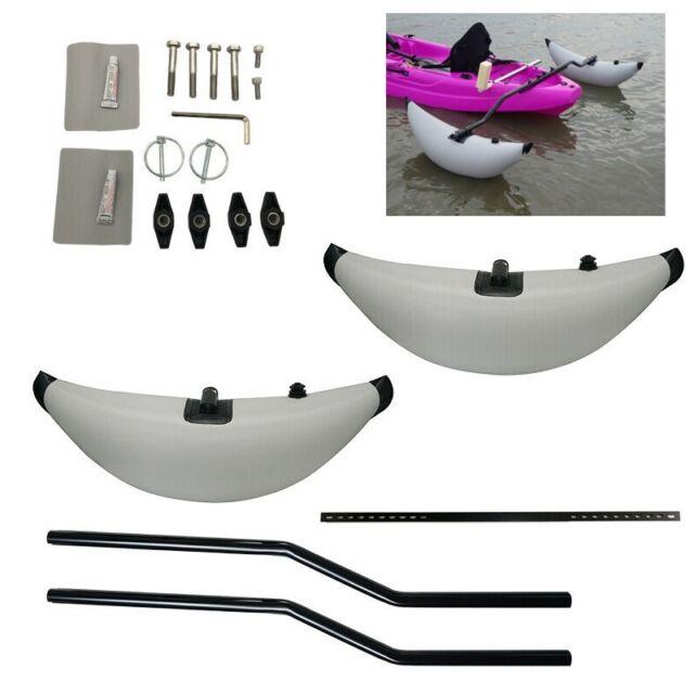 Kayak Outrigger/&Kayak Stabilizer Inflatable Pontoon Fishing Float Tube Buoy Kit