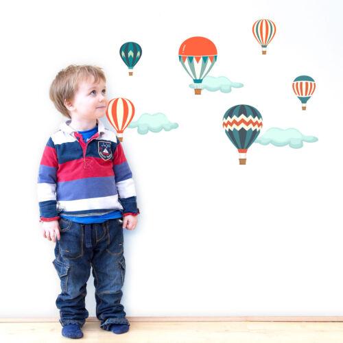Classique Hot Air Balloon Wall StickersTransport À Thème Enfants Décoration