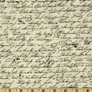 100/% Cotton Fabric Timeless Treasures Numbers Fabric Handwriting