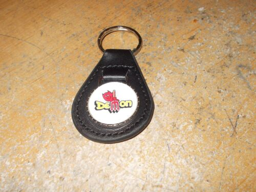 1970 1971 1972 DODGE DART DEMON PITCHFORK LOGO LEATHER KEYCHAIN NEW BLACK