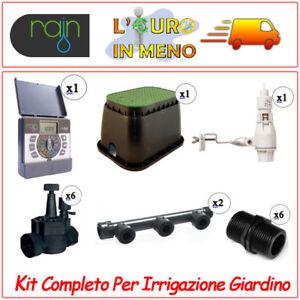 Kit completo impianto irrigazione giardino rain 6 stazioni for Sistemi di irrigazione giardino