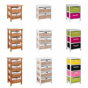 Unit-2-3-Or-4-Maize-Drawers-Basket-White-Wood-Storage-Container-Bathroom-Bedroom