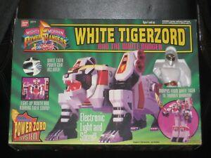 Mighty Morphin Power Rangers White Tigerzord Action Figure 1994 Bandai 2271