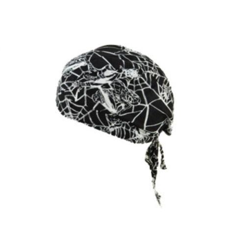 Men Women Biker Skull Cap Motorcycle Bandana Head Wrap Du Doo Do Rag Pirate Hat