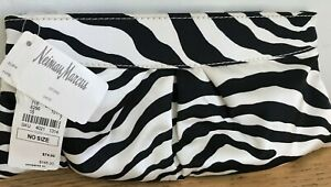 Lauren-Merkin-Black-Animal-Print-Satin-Eve-Clutch-NWT-Neiman-Marcus-165-00