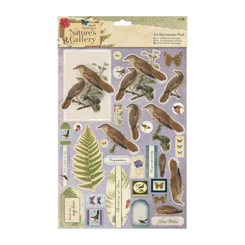 Papermania Nature/'s Gallery embellishments stickers notelets buttons ribbon bows