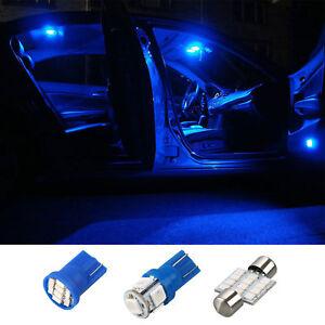 Image Is Loading 13 Blue Led Lights Interior Package Kit 1999