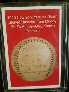 Details About 2019 Heritage Auctions 1920 Ny Yankees Team Signed Baseball Nscc Promo Card