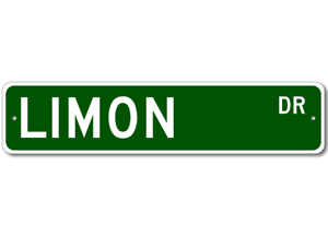 Personalized Last Name Sign LIMON Street Sign