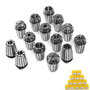 "14Pcs ER20 1//16/""-1//2/"" Spring Collet Set For CNC Milling Lathe Workholding Tool"