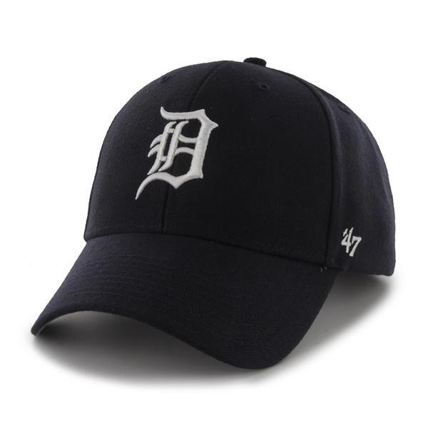 quality design 52175 3645d Detroit Tigers 47 Brand MVP Clean Strap Adjustable On Field Blue Hat Cap MLB