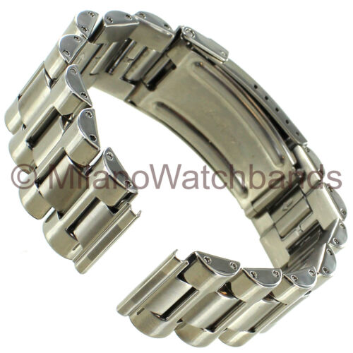 20mm Hirsch H Shape Links Deploy.Clasp WSafety Solid Stainless Mens Band Long