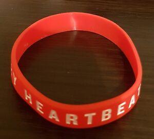 Brand-New-034-British-Heart-Foundation-034-BHF-Red-Silicone-Wristband-SAME-DAY-DISPATCH