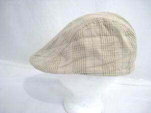 50c55f783bc HENSCHEL HAT CO plaid Driving Cap HH Vintage Cabbie Newsboy Size ...