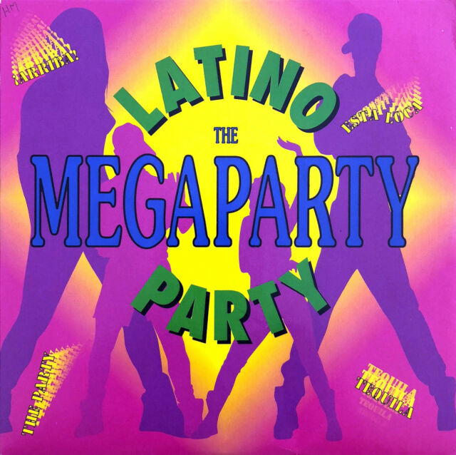 """Latino Party 7"""" The Megaparty - France (VG+/EX)"""