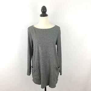 PURE-J-JILL-women-039-s-sz-M-top-gray-heather-tunic-oversize-pockets-J-JILL-medium