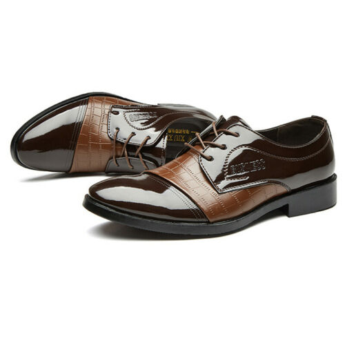MENS BUSINESS FORMAL OFFICE WEDDING  WORK CASUAL BROGUES DRESS SHOES SIZES 6-13